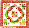 """Cactus Wreath - pieced quilt PATTERN for 2.5"""" strips - Cozy Quilts - 3 sizes"""