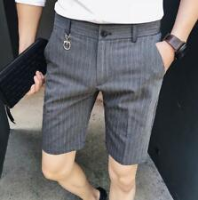 Summer New Breathable Men's Stripe Dress Short Pant Youth Formal Business Shorts