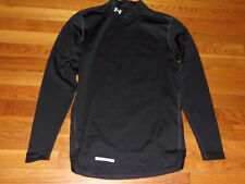 Under Armour Coldgear Long Sleeve Black Mock Fitted Jersey Mens Small Excellent