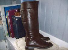 bottes vintage cuir brun .T 37 (23/AZ)