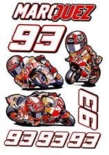 Kit Marc Marquez P adesivi 93 adesivo moto piega stickers MOTOGP caricatura MM93