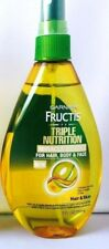 2 Garnier Fructis Triple Nutrition Miracle Dry Oil for Hair Face and Body 5 oz.