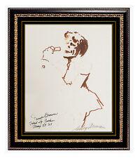 LeRoy Neiman Original Drawing Color Ink Signed Artwork James Brown Painting SBO