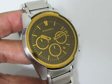 Fossil CH2545 Men's Sport Collection Yellow Crystal Chronograph Watch