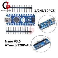 1/2/5/10PCS Nano V3.0 ATmega328P-AU 5V 16MHz Mini USB CH340G Driver For Arduino