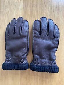 Hestra Primaloft Rib Gloves Dark Brown Leather - Size 8