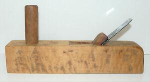 "Vintage Narrow (1⅛"") Craftsman Made European Style Horned Scrub Plane INV13802"