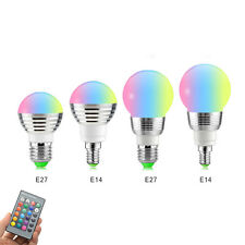 E27 E14 RGB Dimmable led Bulb Light 5W Holiday Atmosphere LED Night Spot light