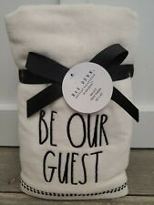 New Rae Dunn Be Our Guest Hand Towels Set Of 2 Bathroom