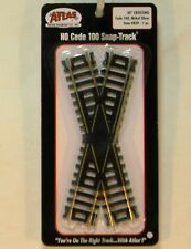 NIB HO Atlas 839 30 Degree Crossing Code 100 Snap Track