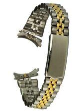 Osco Edelstahluhrarmband bicolor - 15 mm Stegbreite - Faltschließe - Uhrband
