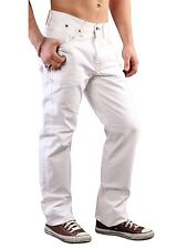 NEW WHITE TOMMY HILFIGER MADISON CLASSIC STRAIGHT LEG JEANS CHINOS 31 WAIST 32LG