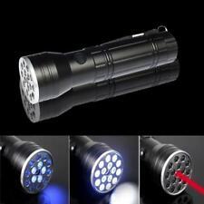 Ultraviolet UV Light LED Powerful 3 in 1 Backlight Torch Flashlight Laser Lamp