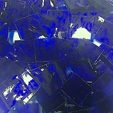 """1/2"""" ROYAL BLUE Stained Glass Mosaic Tiles (100 PIECES)"""