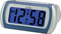 Acctim Arcadia Alarm Clock Blue LCD Battery Operated Digital Lighted Crescendo