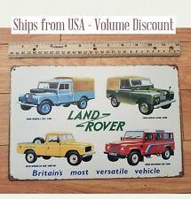 LAND ROVER Sign Metal Land Rover Sign Land Rover Art Land Rover Metal Sign Tin