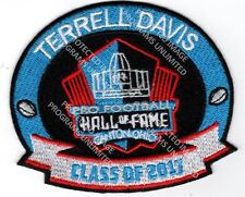 TERRELL DAVIS PATCH 2017 PRO FOOTBALL HALL OF FAME DENVER BRONCOS HOF SUPER BOWL