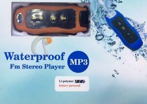 Zs- FM RADIO MUSICA MP3 PLAYER DA 8GB WATERPROOF IMPERMEABILE PISCINA NUOTO