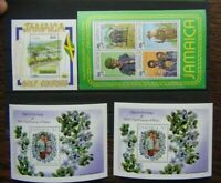 Jamaica 1982 Scouts Royal Baby Princes of Wales 1993 Golf Miniature Sheet MNH