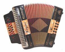 Rossetti 3112 TIGER GCF Sol 31 Button 12 Bass Diatonic Accordion BLACK + ORANGE