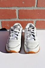 Reebok Classic White Leather Shoes For Infant Toddler Size 9 .....SH1-