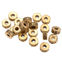20 Pcs Tibetan Style Loose Spacer Beads Jewelry Findings for Jewelry Making