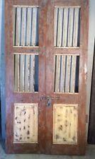 Antique Architectural Salvaged Wood & Iron Doors. Wine Cellar Doors