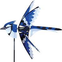 """Eastern Blue Jay Staked Wind Spinner (25"""" x 26"""" x 26"""" Dia. Fan)..20.... PR 25001"""