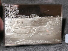 CURRIER & IVES PROOF SILVER IGNOT-PRISTINE & BEAUTIFUL DEPICTIONS-FREE SHIP..