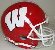 Wisconsin Badgers Alternate Red Schutt Full Size Replica Football Helmet