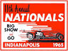 11TH ANNUAL NHRA NATIONALS INDIANAPOLIS 1965 DRAG RACE HOT ROD DECAL STICKER