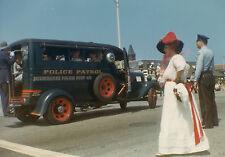 VINTAGE 1966 OLD MILWAUKEE CIRCUS PARADE POLICE PATROL CAR UNIFORM DURST PHOTO