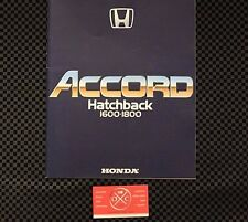 2G Honda Accord Catalog Hatchback JDM 1982-85 83 84 Vigor Rare Brochure CVCC 81