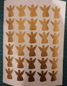 30 ANGEL WINE GLASS CARD ENVELOPE VINYL STICKERS DECAL CHRISTMAS 021