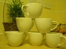 box of 6 white cream jugs