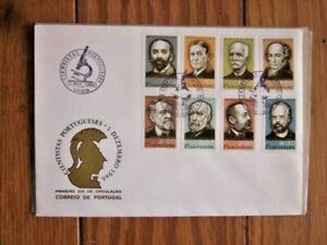 PORTUGAL 1960 PORTUGESE SCIENTISTS MEDICINE BOTANY 8 STAMPS SCARCE FDC #983-90
