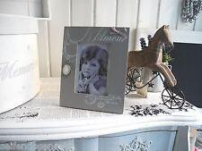 Cabochon Collier beige Bilderrahmen Fotorahmen shabby Landhaus Amour Vintage 614