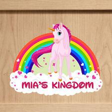 Signo de Unicornio Alcoba, Cartel De Puerta Personalizado, placa de nombre de Dormitorio De Niñas