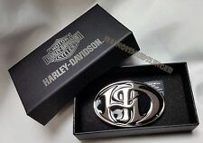 Harley-Davidson Belt Buckle H-D Antique Nickel & Black Enamel by LODIS womens