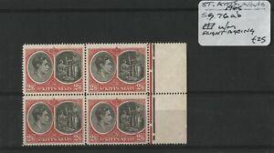 St. Kitts-Nevis 1945 SG.76ab Block U/M