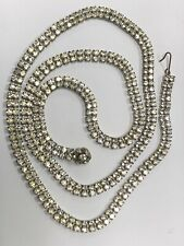 Silver Tone High Quality Rhinestone 2 Rows Belt Purchased From Bloomingdale's