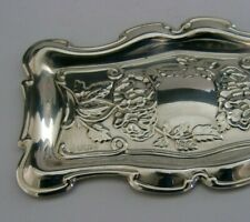 BEAUTIFUL ENGLISH SOLID STERLING SILVER PIN DISH TRAY 1992 ART NOUVEAU STYLE