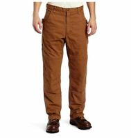 Key Apparel Men's Premium Relaxed Fit Duck Dungaree, Saddle, Brown 30x32