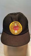 Vintage El Dorado Blasting Products Snapback Hat Cap USA Made Mesh Trucker