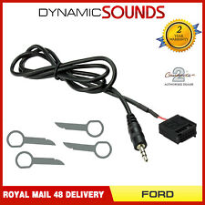 6000CD Aux In Input Adapter Cable Lead iPod MP +Removal Keys for FORD All Models