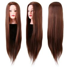 24in Practicing Training Long Hair Head Hairdresser Cosmetology Doll Wig Head