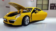 G1:24 Scale Yellow Porsche 911 991 Carrera S 2011 V Detailed Diecast Model Car