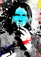 "Kurt Cobain NIRVANA 36"" x 24"" Graffiti Full Colour Poster"