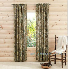"""RealTree Xtra Camo Design Window Curtain Panels, Sets of 2, Size 40"""" x 84"""" - NEW"""