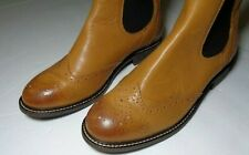MOCCAMOCCA JOHN WHITE Womens Boots Chealsea Wing toe Boots Size US 9 Euro 40